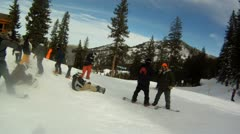 Snowboarding day Stock Footage