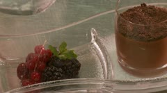 Dessert-Fruit and chocolate Stock Footage