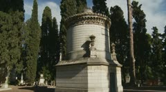 Family plot in cemetery (glidecam) Stock Footage
