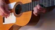Flamenco guitarist in concert Stock Footage