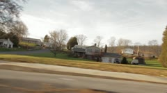 Driving Shot of Small Town USA Stock Footage