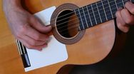 Guitarist playing flamenco guitar Stock Footage