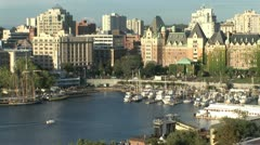Victoria Inner Harbour - stock footage
