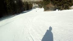 Snowboarding downhill Stock Footage