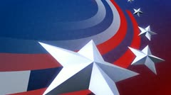Stock Video Footage of Big Stars and Stripes