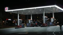Gas station time lapse Stock Footage