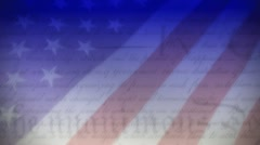 Constitution Blended with Flag Stock Footage