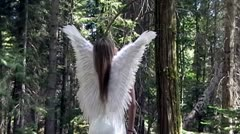 Angel In Forest Stock Footage