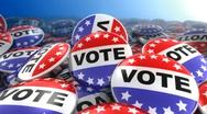 Vote Buttons Stock Footage