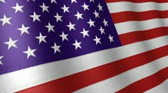 Waving American Flag Stock Footage