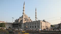 New Mosque ( Yeni Cami ) Stock Footage