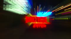 Motel vacancy neon sign blurred, finish with stable shot Stock Footage