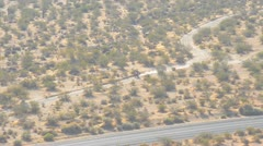 Motorcyclist in the desert Stock Footage