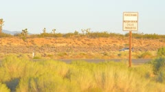 Highway sign in the desert Stock Footage