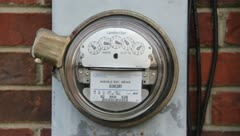 Electric Meter 2 Stock Footage