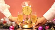 Toast a New Year's champagne Stock Footage