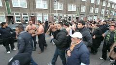 Shiites at Ashura - stock footage