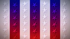 Vertical Stars and Stripes - stock footage