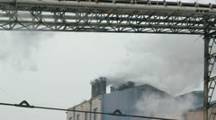 Pollution Smoke from Factory Chimneys - stock footage