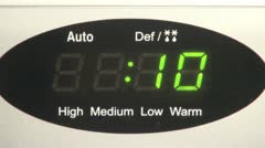 Microwave Digital Timer Stock Footage