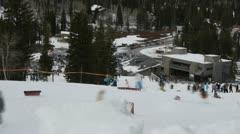 Ski Resort timelapse - stock footage