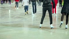 headless people skating in skating rink - stock footage