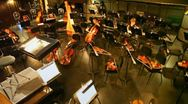 Orchestra pew at New Opera Theatre with several musicians Stock Footage