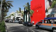 Valentino store - Italian fashion on Beverly Hills - stock footage