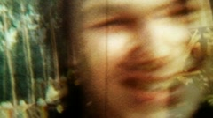 Glitchy Smiling Dude Close Up Fast Repeated Loop - Vintage Super8 Film Stock Footage