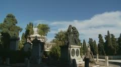 Italian cemetery glidecam Stock Footage