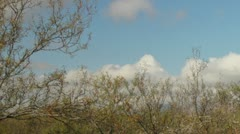 2K 30p - Winter cloud formation over mountains in the desert in time lapse Stock Footage