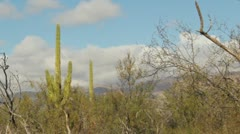 HD 30p close 3 Winter cloud formation over mountains in the desert in time lapse Stock Footage