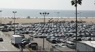 Stock Video Footage of Santa Monica Beach Panorama, Los Angeles, California