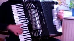 Matt accordion Stock Footage