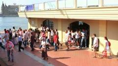 Passengers at Kadikoy Port Stock Footage