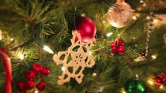 Christmas Tree closeup tracking shot - stock footage