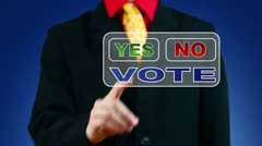 Businessman voting Yes - stock footage