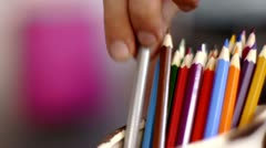 Stock video footage color pencils Stock Footage