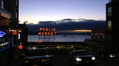 Seattle, Pike Place Market Stock Footage