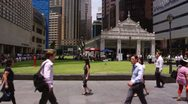 Stock Video Footage of Raffles Place