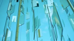 Mirrors in the wind backgrounds Stock Footage