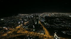 Downtown Dubai and Sheikh Zayed Road in Dubai Stock Footage