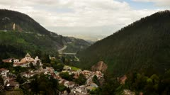Time lapse in Guapulo, a small neighborhood of Quito, Ecuador Stock Footage