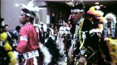 American Indian Pow Wow Dancers Circa 1965 (Vintage Film Home Movie) 1515 Stock Footage