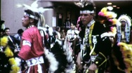 Stock Video Footage of American Indian Pow Wow Dancers Circa 1965 (Vintage Film Home Movie) 1515