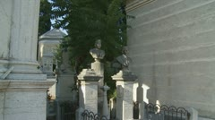 Family resting place in a cemetery Stock Footage