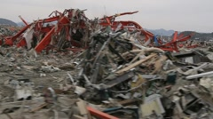 Japan Tsunami Aftermath-Driving  Stock Footage