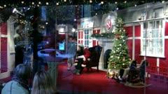 Santa in store window Stock Footage