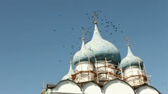 Nativity of the Virgin Cathedral. Suzdal Kremlin Stock Footage