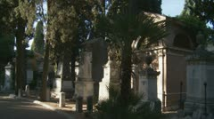 Cemetery moving shot Stock Footage